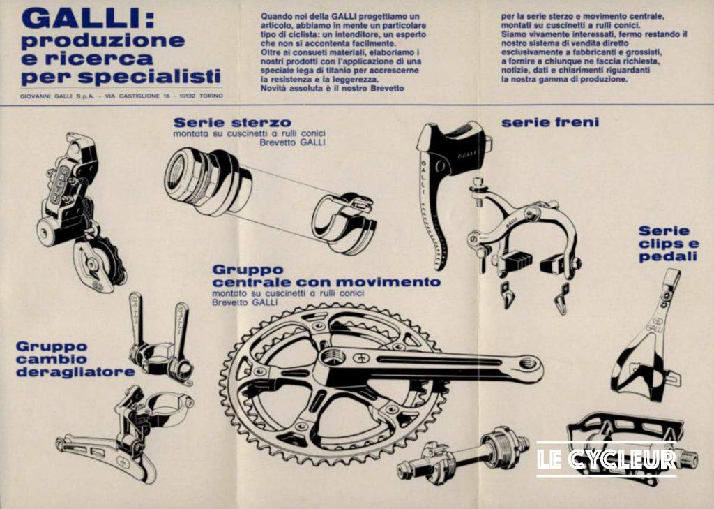 1978 Galli Criterium groupset